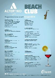 Altereno Beach Club - Programmazione ed eventi Giugno 2014 - Matera