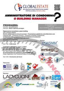 Amministratore di Condominio o Building- Manager? - 12 Novembre 2014 - Matera
