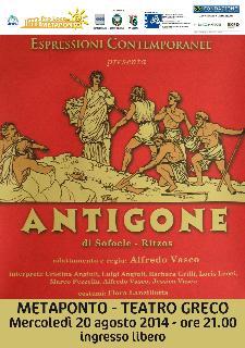 Antigone di Sofocle - Ritzos - 20 agosto 2014 - Matera