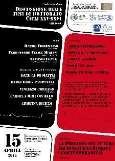 Architecture and Urban Phenomenology - 15 aprile 2014 - Matera