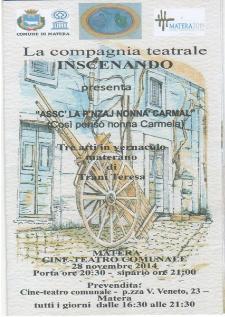 ASSC' LA P'NZAJ NONNA' CARMAL - 28 Novembre 2014 - Matera