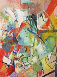 Banchetto di compleanno,olio su tela - Paul Russotto - Matera