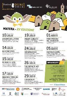 Calendario Festival Duni 2014 - Matera