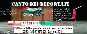 Canto dei deportati - 19 Ottobre 2014 - Matera
