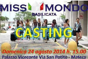 Casting Miss Mondo Basilicata 2015 - 24 agosto 2014 - Matera