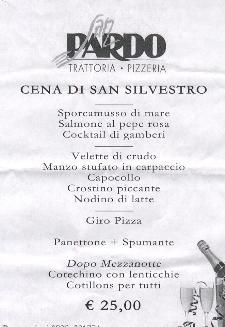 Cena di San Silvestro al Ristorante San Pardo  - Matera