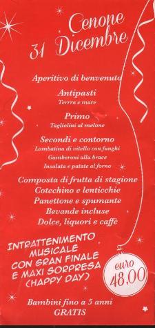 Cenone di San Silvestro al Ristorante Sua Maestà La Carne  - Matera