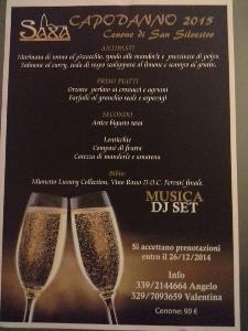 Cenone di San Silvestro al Saxa - 31 Dicembre 2014 - Matera