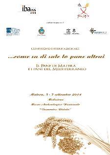 Come sa di sale lo pane altrui. Il pane di Matera e i pani del Mediterraneo - dal 5 al 7 settembre 2014 - Matera