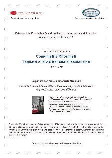 Comunisti e Riformisti. Togliatti e la via italiana al socialismo - 2 Maggio 2014 - Matera