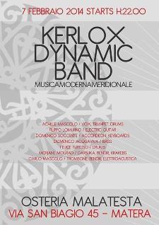 CONCERTI D'OSTERIA: Kerlox Dub Band  - 7 Febbraio 2014 - Matera