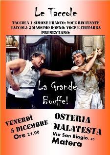 Concerti d'Osteria: La grande bouffe  - Matera