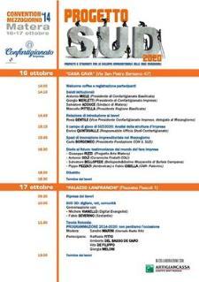 """Convention Mezzogiorno 2014 """"Progetto Sud 2020""""  - Matera"""