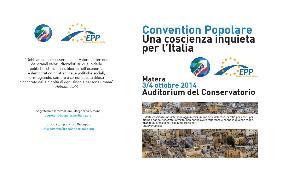 Convention Popolare: Una coscienza inquieta per l'Italia - 3 e 4 ottobre 2014 - Matera