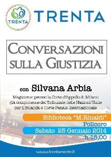 Conversazioni sulla Giustizia con Silvana Arbia - 25 Gennaio 2014 - Matera