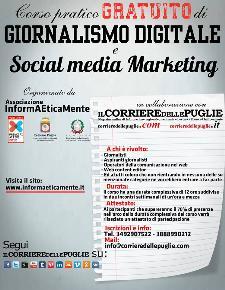 Corso pratico gratuito di giornalismo digitale e social media marketing  - Matera
