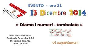 Diamo i numeri - TOMBOLATA GH24  - Matera
