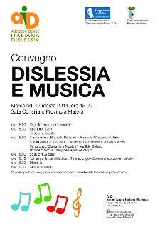 Dislessia e Musica - 12 Marzo 2014 - Matera