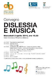 Dislessia e Musica - 2 Aprile 2014 - Matera