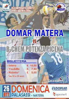 Domar Matera vs B-Chem Potenza Picena  - Matera