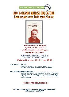 Don Giovanni Minozzi – L'EDUCAZIONE OPERA D'ARTE OPERA D'AMORE - 20 marzo 2014 - Matera