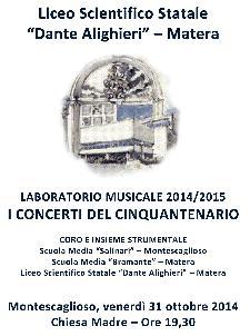Ensemble musicale per il cinquantenario del Liceo Scientifico - Matera