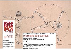 Equilibrio, voce e deglutizione nella SM - 31 Gennaio 2014 - Matera