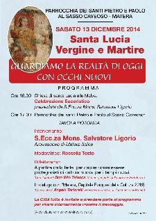 Festività di S. Lucia - 13 Dicembre 2014 - Matera