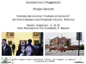 Filippo Venturi - Incontri con i Viaggiatori - 18 Gennaio 2014 - Matera