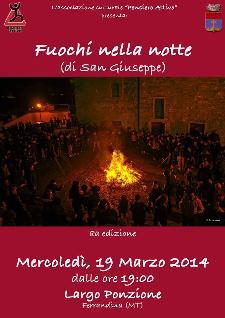 Fuochi nella Notte di San Giuseppe - 19 Marzo 2014 - Matera