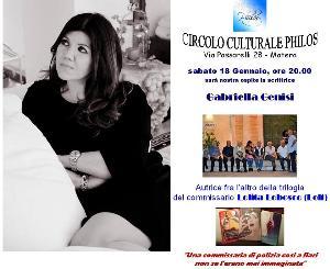 Gabriella Genisi ospite al Circolo Culturale Philos - 18 Gennaio 2014 - Matera