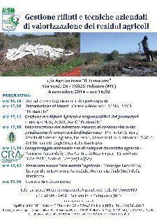 Gestione rifiuti e tecniche aziendali di valorizzazione dei residui agricoli - 4 Novembre 2014 - Matera