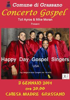 Happy day gospel singers - 3 gennaio 2014 - Matera
