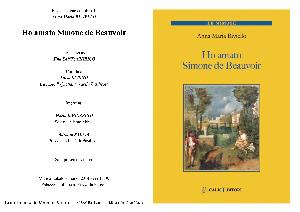 Ho amato Simone de Beauvoir - 8 marzo 2014 - Matera
