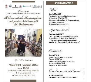 Il Carnevale di Montescaglioso nel quadro dei Carnevali del Mediterraneo - 21 febbraio 2014 - Matera