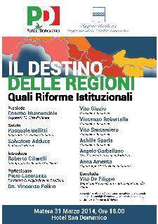 Il destino delle Regioni - Quali Riforme Istituzionali  - Matera