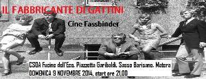 Il fabbricante di gattini - CineFassbinder - 9 Novembre 2014 - Matera