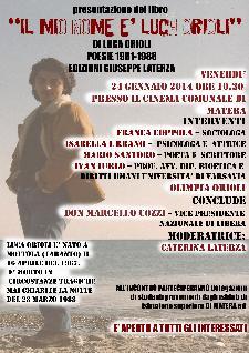 Il mio nome è Luca Orioli - 24 Gennaio 2014 - Matera