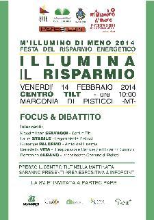 Illumina il Risparmio - 14 Febbraio 2014 - Matera