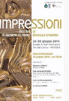Impressioni - Mostra di Brunella D'Adamo - Matera