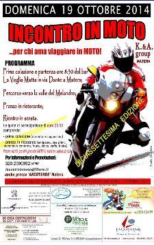Incontro in Moto - 19 Ottobre 2014 - Matera