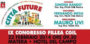 IX Congresso Fillea Cgil - 22 Febbraio 2014 - Matera