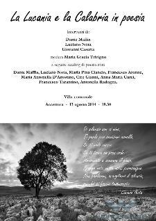 La Lucania e la Calabria in poesia - 13 agosto 2014 - Matera