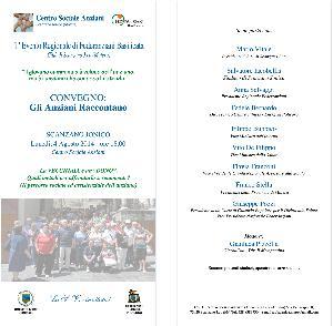 """La VECCHIAIA è un """"DONO"""" - 4 Agosto 2014 - Matera"""