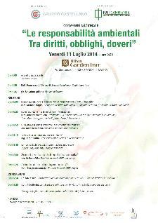 Le responsabilità ambientali Tra diritti, obblighi e doveri - 11 Luglio 2014 - Matera