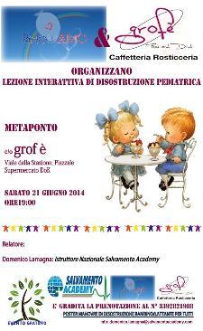 Lezione interattiva di disostruzione pediatrica  - 21 Giugno 2014 - Matera