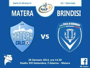 Matera vs Brindisi - 26 Gennaio 2014 (grafica di Tifomatera) - Matera