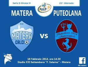 Matera vs Puteolana Internapoli - 16 Febbraio 2014 (grafica di Tifomatera) - Matera