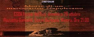 Morte di un matematico napoletano - Cineforum - 26 Ottobre 2014 - Matera