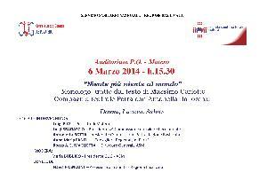 NIENTE PIU' NIENTE AL MONDO - 6 marzo 2014 - Matera